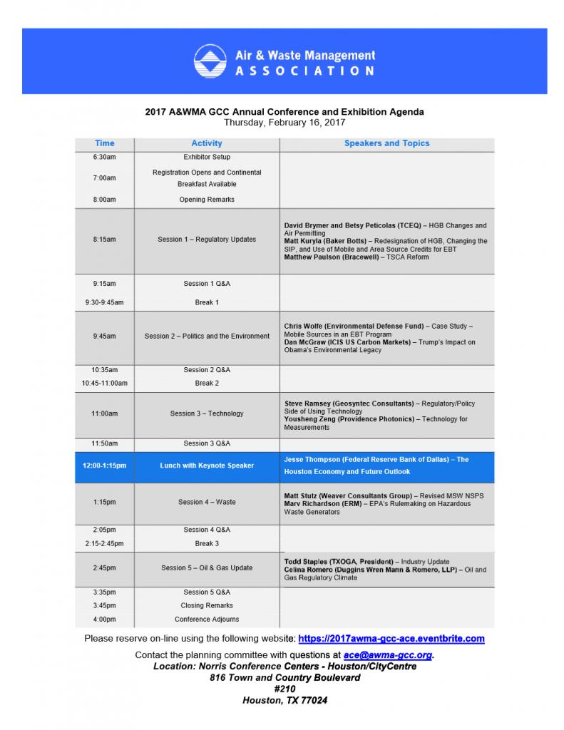AWMA 2017 Agenda