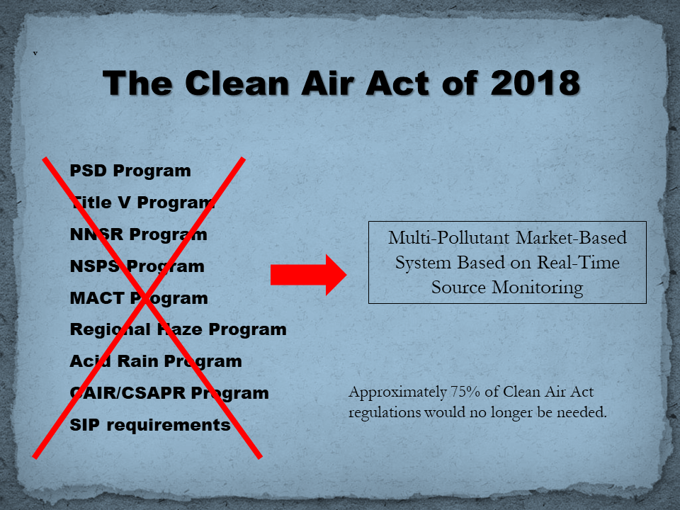 Clean Air Act of 2018 v 5